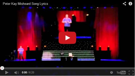 Peter Kay Misheard Song Lyrics