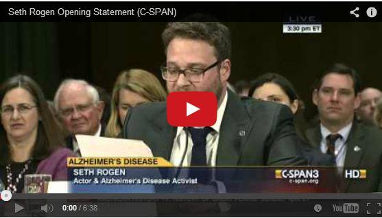 Seth Rogen Opening Statement on Alzheimer's