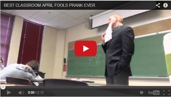 Student pulls awesome April Fools Day prank on strict professor in class